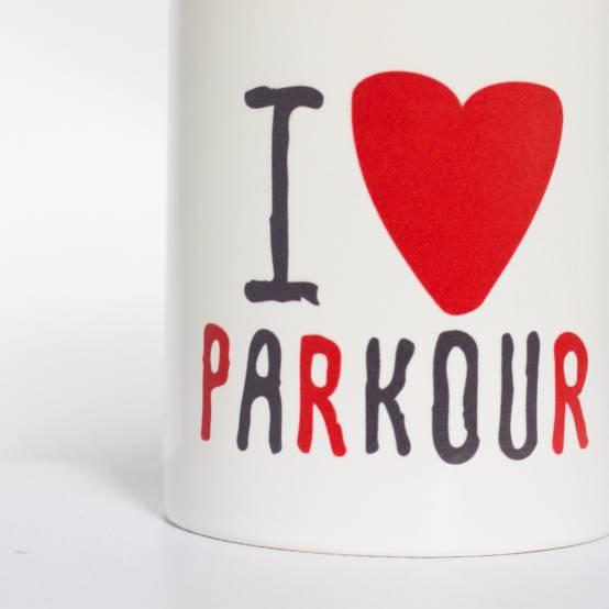 Hrnek Miluju Parkour pro parkour
