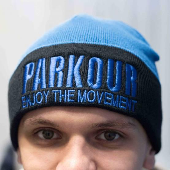 Zimní kulich Parkour Modrý pro parkour