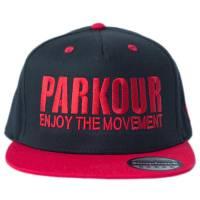 Snapback Parkour Červený