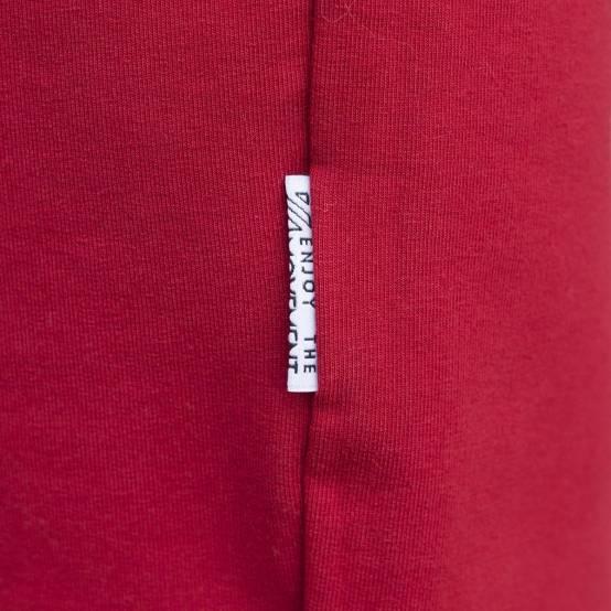 Tepláky pro parkour Freedom Červené, bílá výšivka