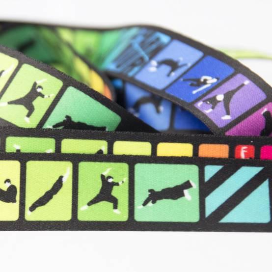 Šňůrka na krk Color Tricks pro parkour
