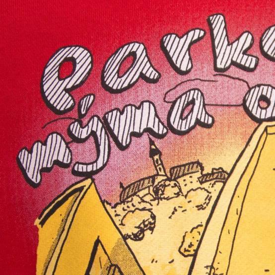 Mikina pro parkour Parkour mýma očima Červená