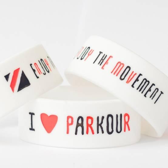 Náramek Love Parkour Bílý pro parkour
