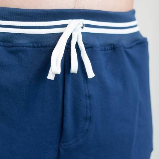 Tepláky pro parkour Soul Námořní Modré, bílá výšivka