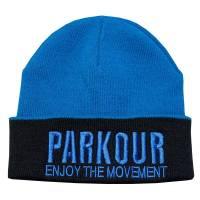 Zimní kulich Parkour Modrý