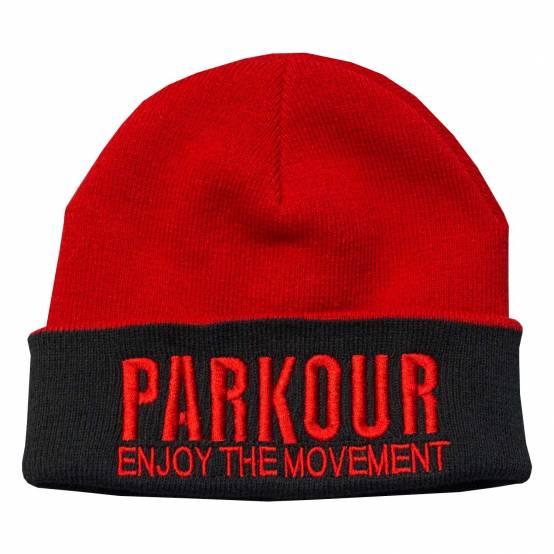 Zimní kulich Parkour Červený