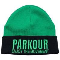 Zimní kulich Parkour Zelený