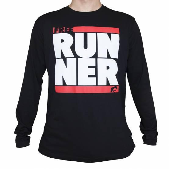 Tričko dlouhý rukáv Freerunner Černé
