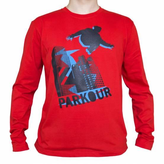 Tričko dlouhý rukáv Blue Jumper Červené
