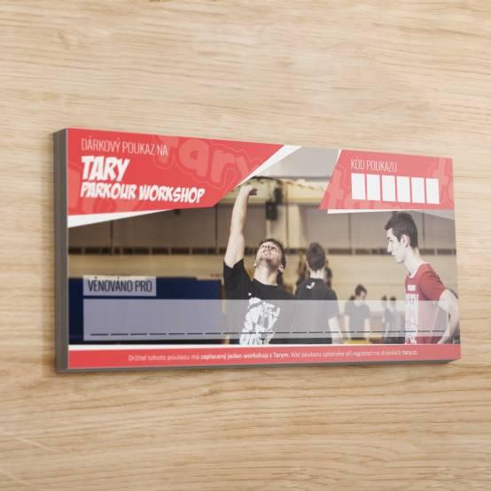 Dárkový poukaz Tary Workshop pro parkour