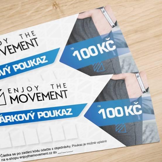 Dárkový poukaz Enjoy the Movement 100 Kč pro parkour