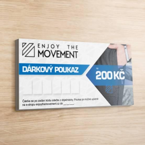 Dárkový poukaz Enjoy the Movement 200 Kč pro parkour