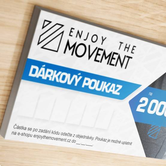 Dárkový poukaz Enjoy the Movement 2 000 Kč pro parkour