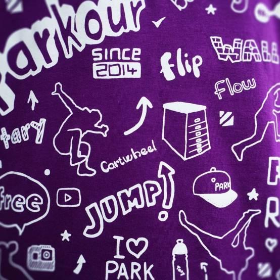 Tričko pro parkour Parkour Doodle