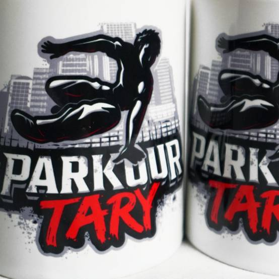 Hrnek Tary Parkour Bílo-červený pro parkour