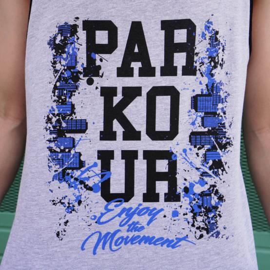 Tílko pro parkour Parkour City šedé