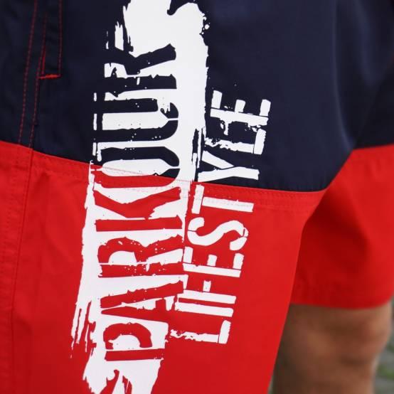 Plavky Parkour Lifestyle červeno-modré pro parkour