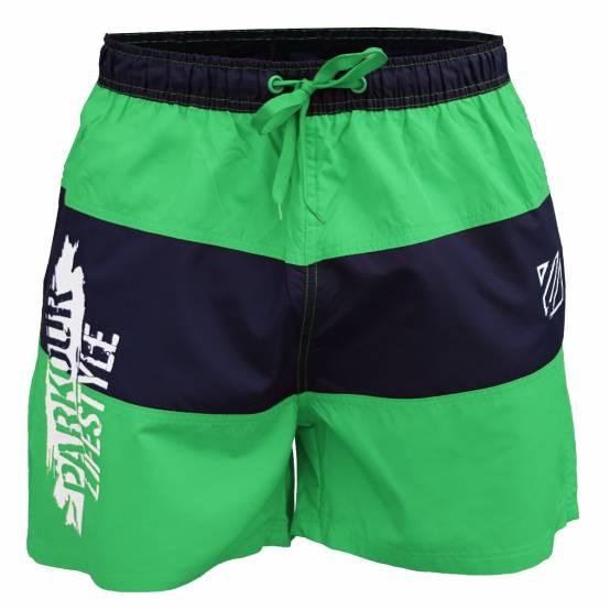 Plavky Parkour Lifestyle zeleno-modré pro parkour