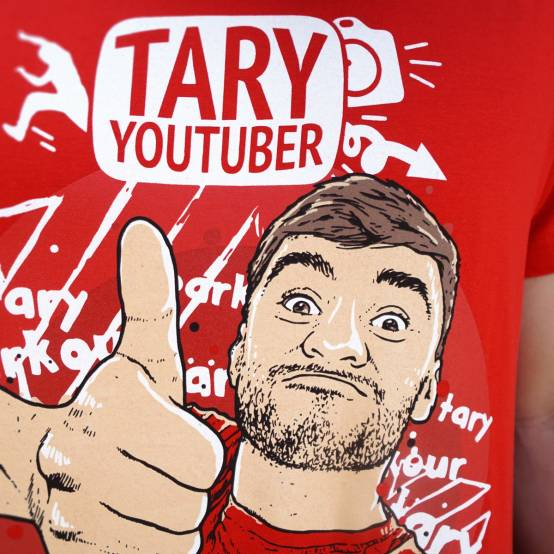 Tričko pro parkour Youtuber Tary