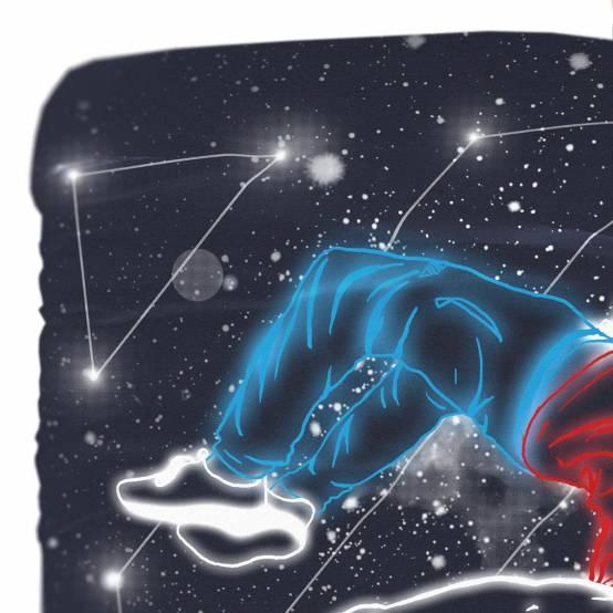 Povlečení Galaxy of Parkour pro parkour
