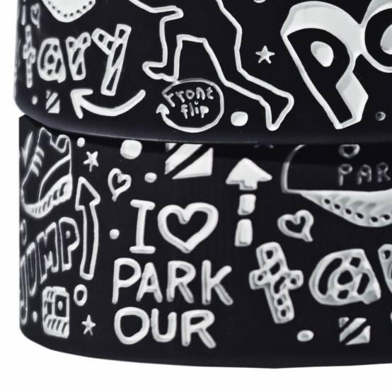 Náramek Doodle černý pro parkour