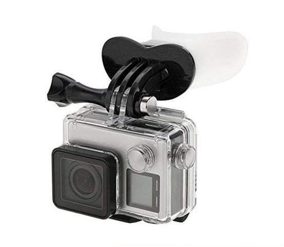 Držák do pusy na kameru černý pro parkour