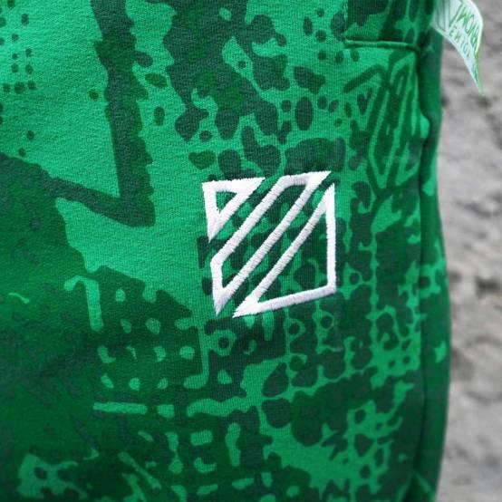 Tepláky pro parkour Soul Camouflage zelené