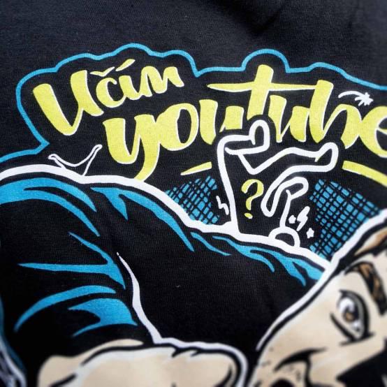 Tričko pro parkour Učím YouTubery Parkour Černé
