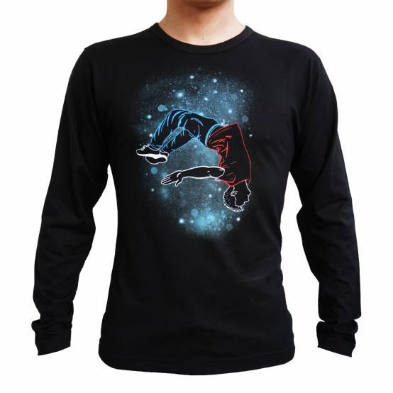 Tričko Dlouhý rukáv Layout Stars Černé