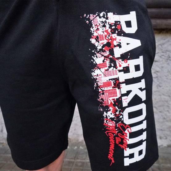 Kraťasy Parkour City černé pro parkour