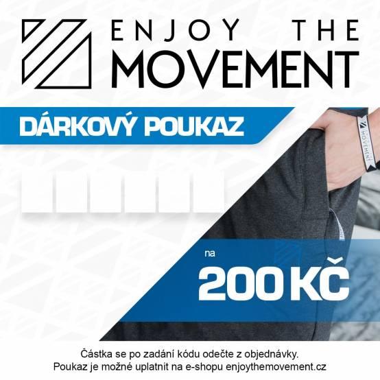 Dárkový poukaz Enjoy the Movement 200 Kč