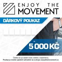 Dárkový poukaz Enjoy the Movement 5 000 Kč