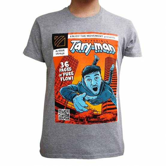 Tričko pro parkour Tary-man šedé