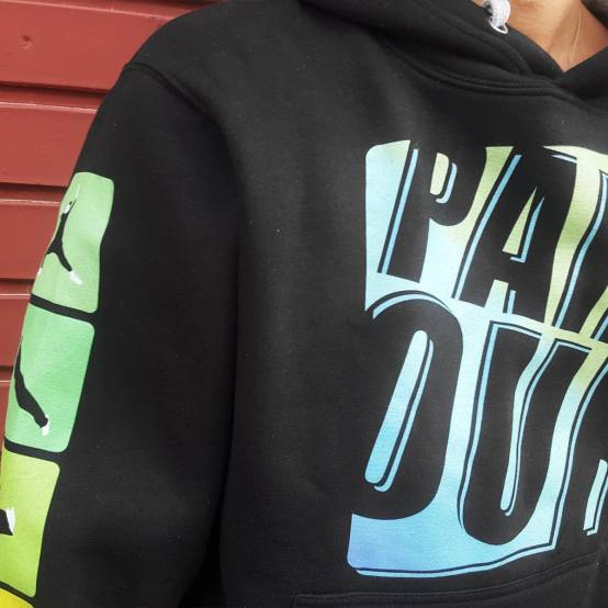 Mikina pro parkour s kapucí Color Tricks