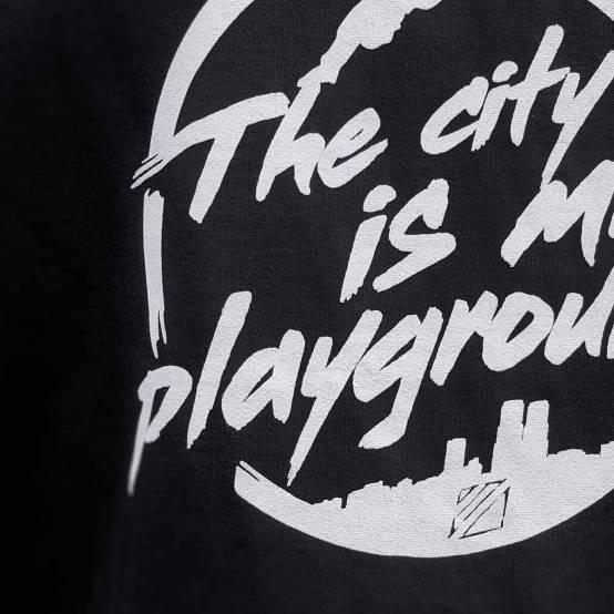 Mikina pro parkour s kapucí City is my Playground