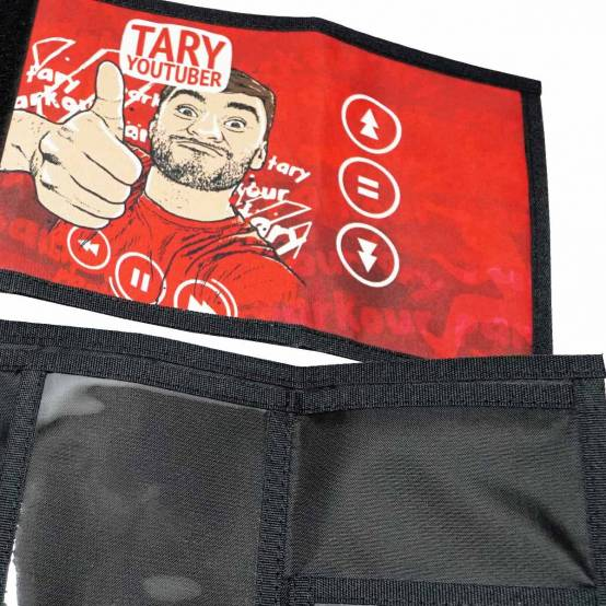 Peněženka Tary YouTuber pro parkour