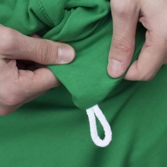 Tepláky pro parkour Freedom Zelené, bílá výšivka