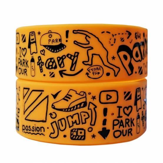 Náramek Doodle Oranžový pro parkour