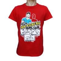 Tričko Učím YouTubery Parkour 2 Červené
