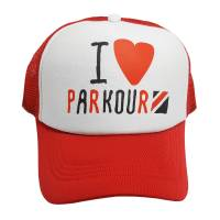Kšiltovka I Love Parkour Červená