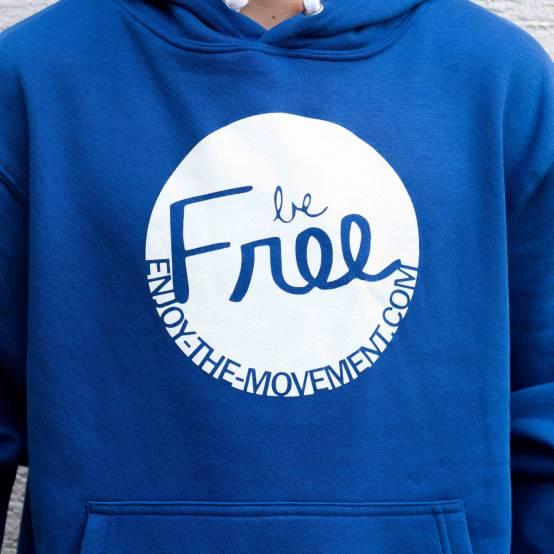 Mikina pro parkour s kapucí Be Free Modrá