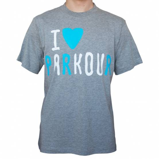 Tričko Miluju Parkour Šedý melír