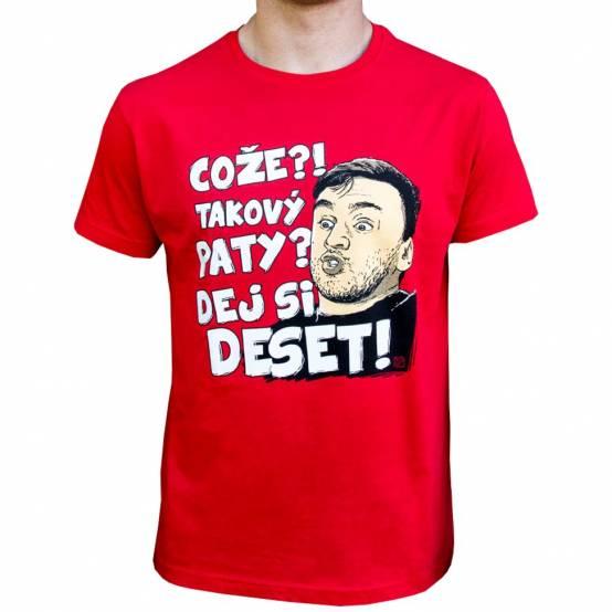 Tričko Takový Paty Červené