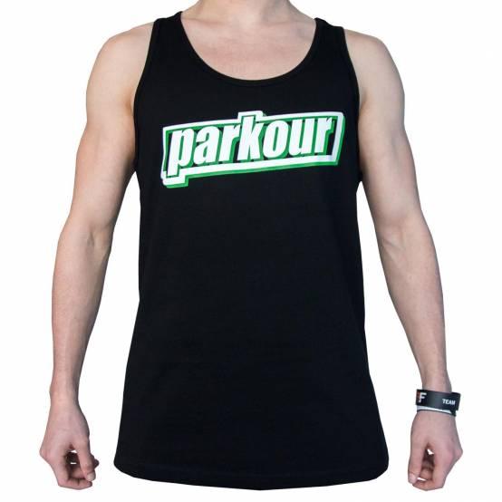 Tílko Green Parkour Černé