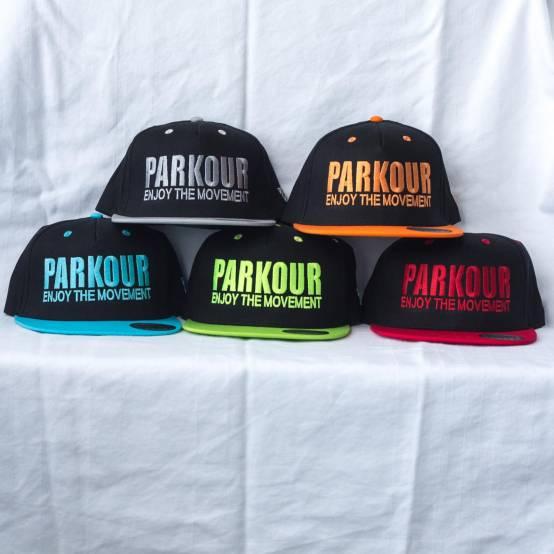Snapback Parkour Oranžový pro parkour