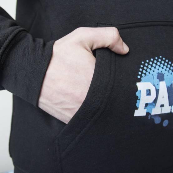 Mikina pro parkour s kapucí Blue Logo