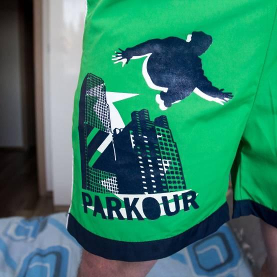 Plavky Parkour Zelené pro parkour