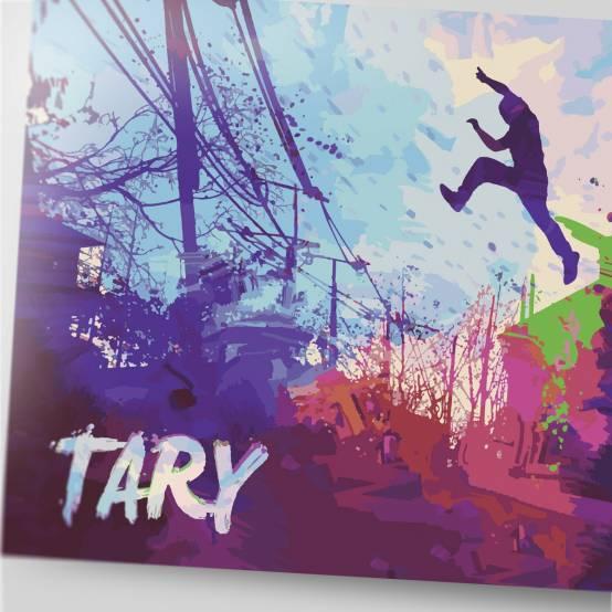 Plakát Tary abstraktní pro parkour