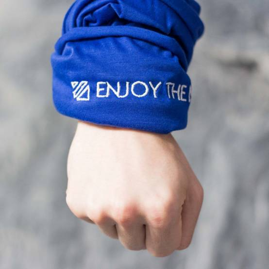 Šátek Enjoy the Movement Modrý pro parkour