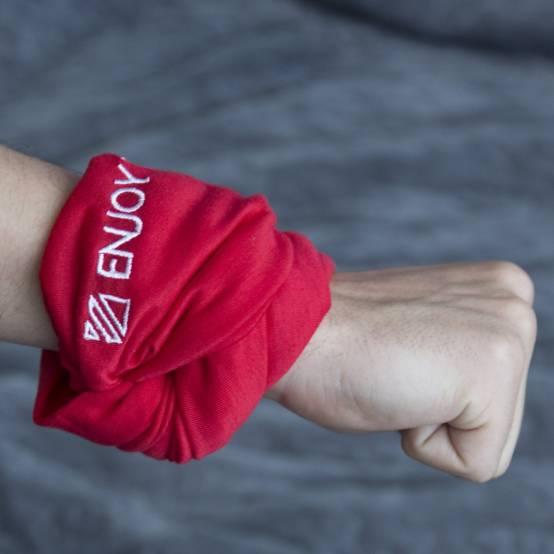 Šátek Enjoy the Movement Červený pro parkour